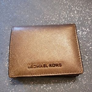 Michael Kors wallet, gold